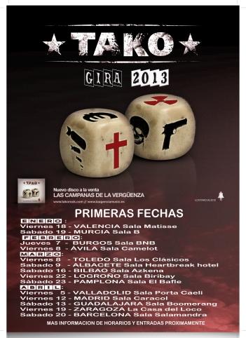 TAKO GIRA 2013fechas actualizadas 12/12/12